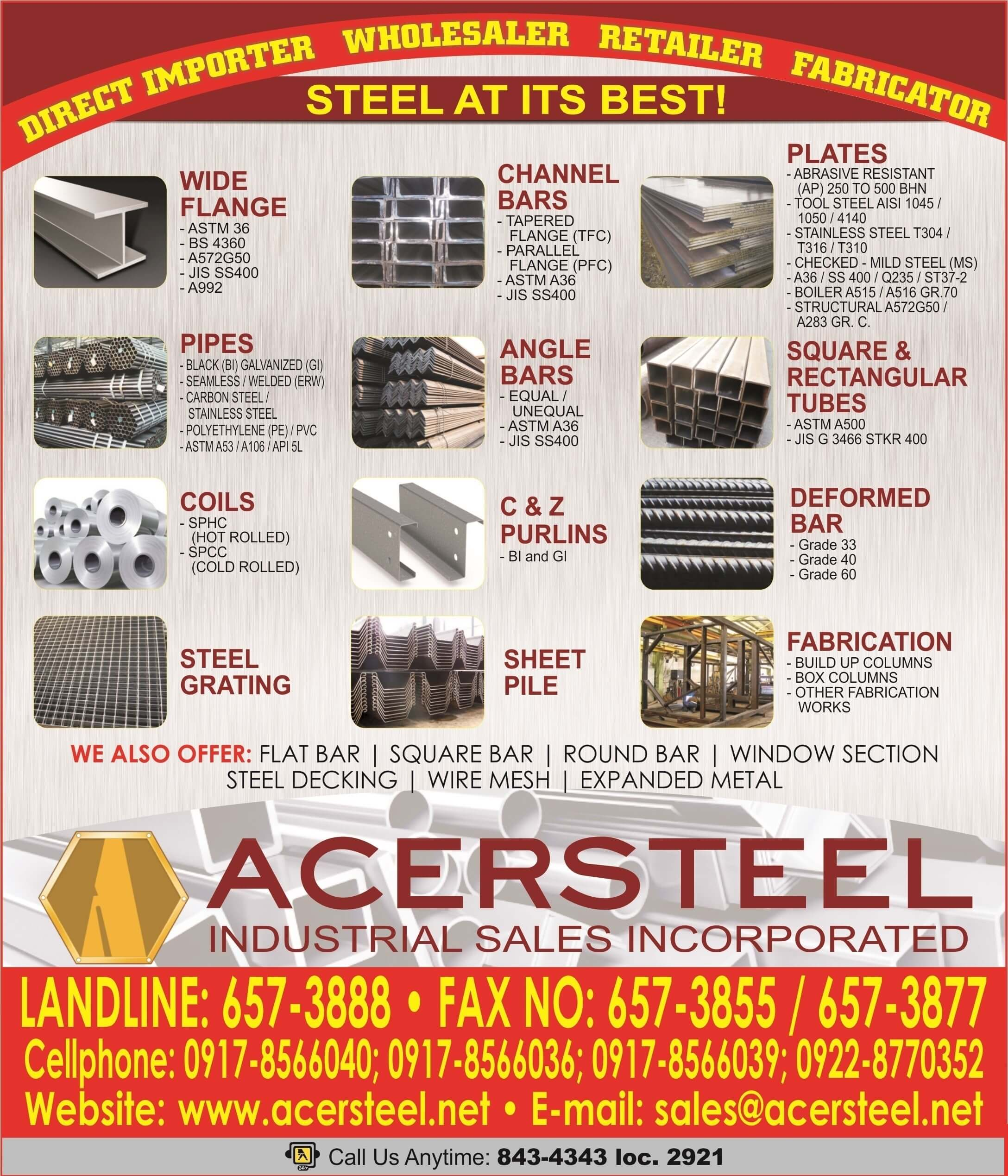 Acersteel - The Most Trusted Supplier of High Quality Steel